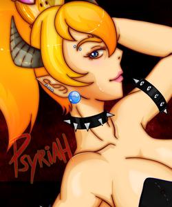Sexy Bowsette black corsette