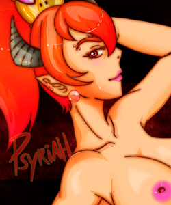 Sexy Bowsette red hair nude