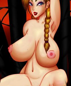 Pinup girl big boobs and blonde hair hentai art by Psyriah