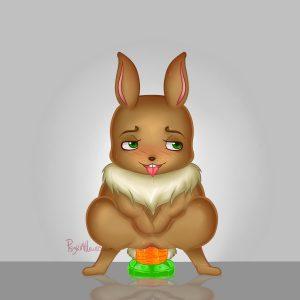 Bunny Masturbating w/ Carrot Dildo